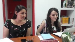 Antonella Aparicio y Dinorah Cardozo