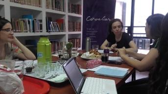 Graciela Queirolo, Eugenia Crusco y Antonella Aparicio
