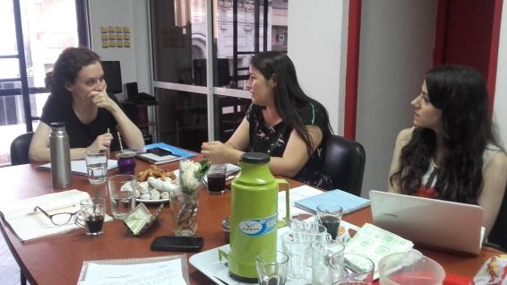Graciela Queirolo, Antonella Aparicio y Dinorah Cardozo