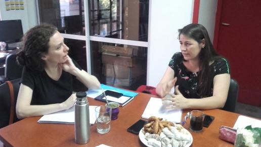 Graciela Queirolo y Antonella Aparicio